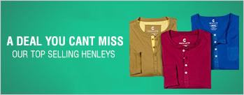 Buy 3 Henleys at Rs 999 Only + Extra Rs 87 Cashback