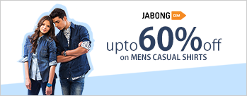 Upto 70% OFF on Mens Casual Shirts + Extra 6% Cashback (New User)