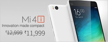 Mi 4i (16GB, Grey) at Rs 11999 Only