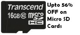 Offer on Micro SD Cards at Amazon