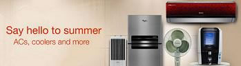 Discounts on ACs, Coolers and More at Amazon