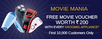 Free Movie Voucher Worth Rs.200 With Every Grooming Appliance