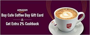 Buy Cafe Coffee Day Gift Card & Get Extra 2% Cashback