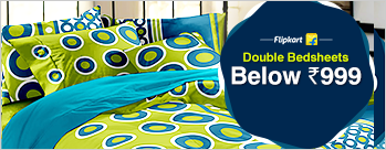 Double Bedsheets (Set Of  2) below Rs 999 Only