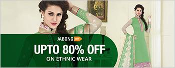 Upto 80% OFF on Ethnic Wear + Extra 6% Cashback (New User)