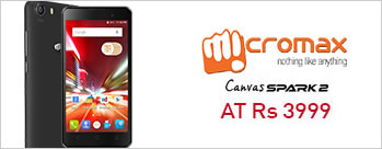 Micromax Canvas Spark 2 (4 GB) Black at Rs 3999 Only