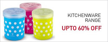Upto 60% OFF on Kitchenware Range