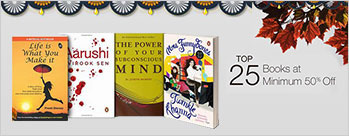 Minimum 50% OFF On Top 25 Books