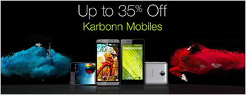 Upto 35% OFF on Karbonn Mobiles
