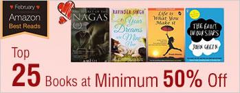 Minimum 50% OFF on Top 25 Books at Amazon