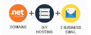 Deal of the Day - .NET plus 2 Business Email plus DIY Tool plus Web Hosting at Rs 89 per month