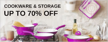 Upto 70% OFF on Cookware & Storage + Extra 3.5% Cashback (New User)