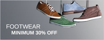 Minimum 30% OFF on Footwear + Extra 3.5% Cashback (New User)