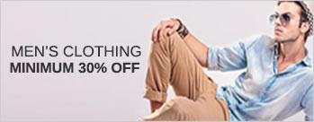 Minimum 30% OFF on Mens Clothing + Extra 3.5% Cashback (New User)