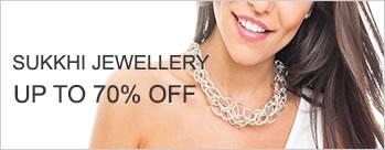 Upto 70% OFF on Sukkhi Fashion Wedding Jewellery + Extra 3.5% Cashback (New User)