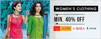 Minimum 40% OFF on Women's Clothing