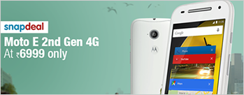 Moto E (2nd Gen) 3G 8GB at Rs 5999 Only