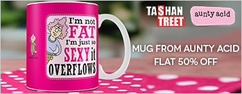 Flat 50% OFF on Mugs From Aunty Acid