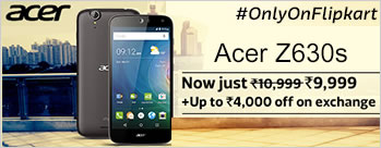 Acer Z630S (Black & Gold, 32 GB) at Rs 10999 Only