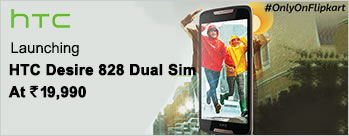 HTC Desire 828 Dual Sim  at Rs 19990 Only
