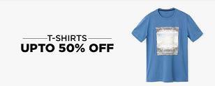Upto 50% OFF on Tshirts