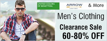 Upto 40% to 80% OFF on Mens Clothing