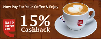 Pay at any CCD outlet with MobiKwik Wallet & Get 15% Cashback + Extra 1% Cashback