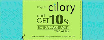 10% Cashback on Paying with MobiKwik Wallet at Cilory + Extra 1% Cashback