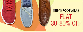 Flat 30-80%  OFF on Men's Footwear