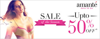Upto 50% OFF on Amante Lingerie