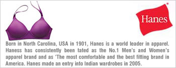 Hanes Brand Products Starting at Rs 325
