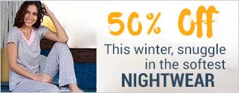 50% OFF on Nightwear